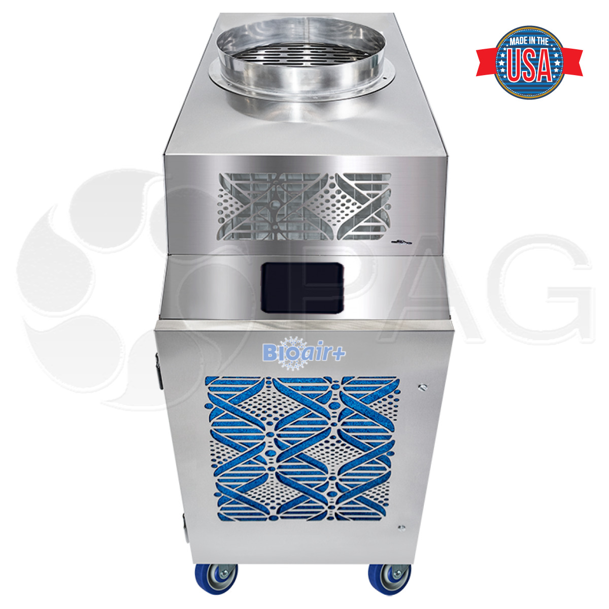 Front Angle of the KwiKool BioAir KBP600 and KBP1000 HEPA Air Cleaner with UV Lights