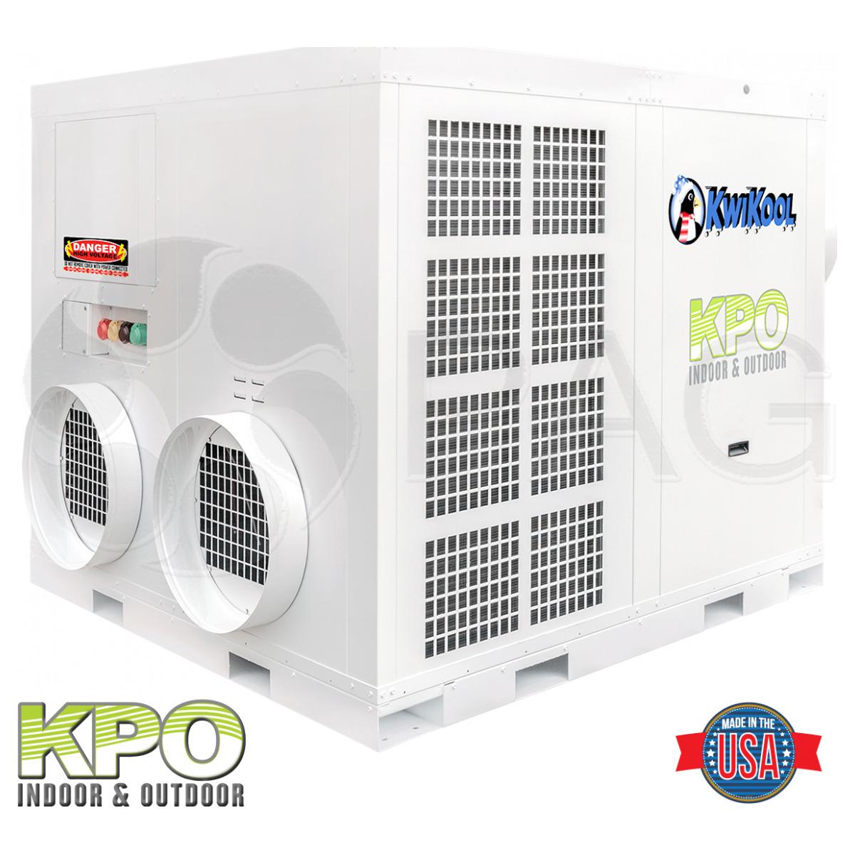 Reverse View KwiKool's 25-ton Indoor/Outdoor AC unit - KPO25-43