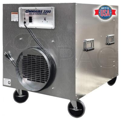 Omnitec OmniAire2200C portable HEPA air filtration system