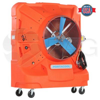Portacool Hazard Location 260 portable evaporative cooler front view right