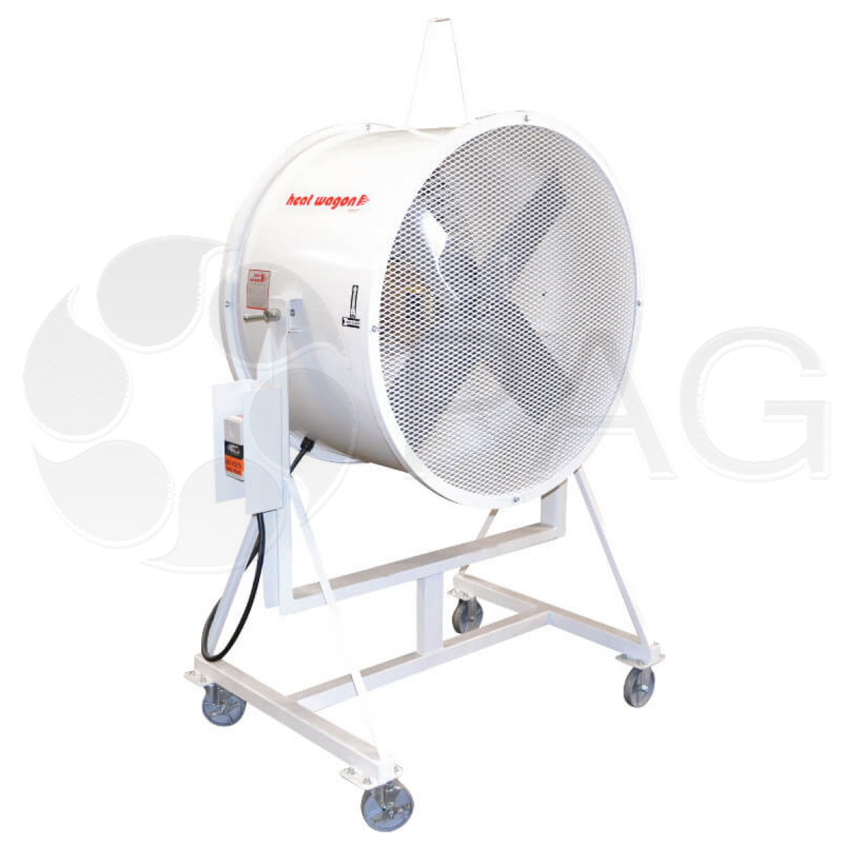 Heat Wagon I36 blower fan with specially-engineered propellers
