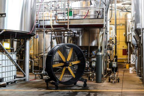 Big Ass Fans sidekick-in-brewery