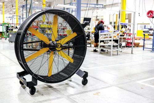 Sidekick used on a manufacturing floor