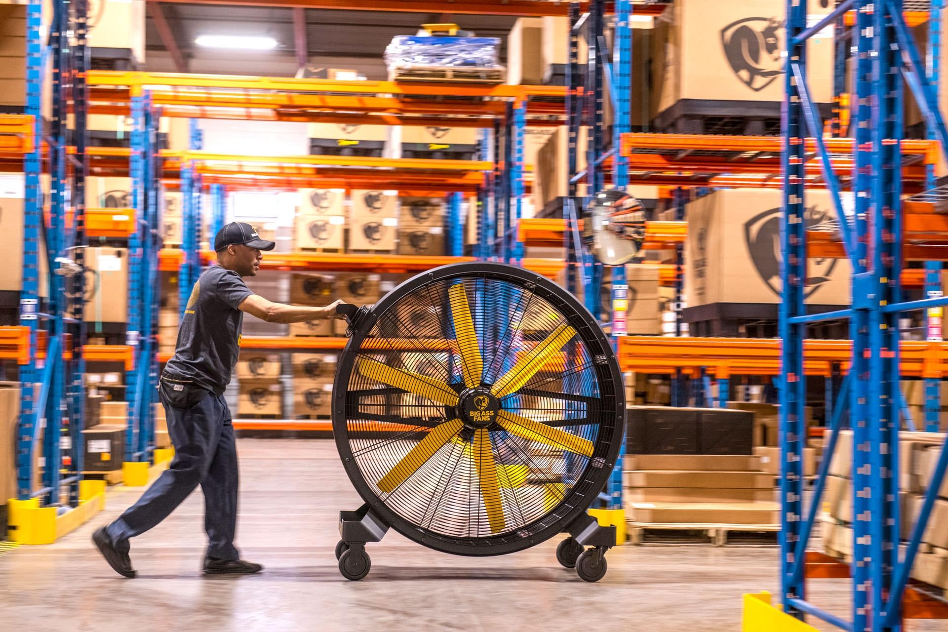 Big Ass Fans sidekick-rolling-in-warehouse